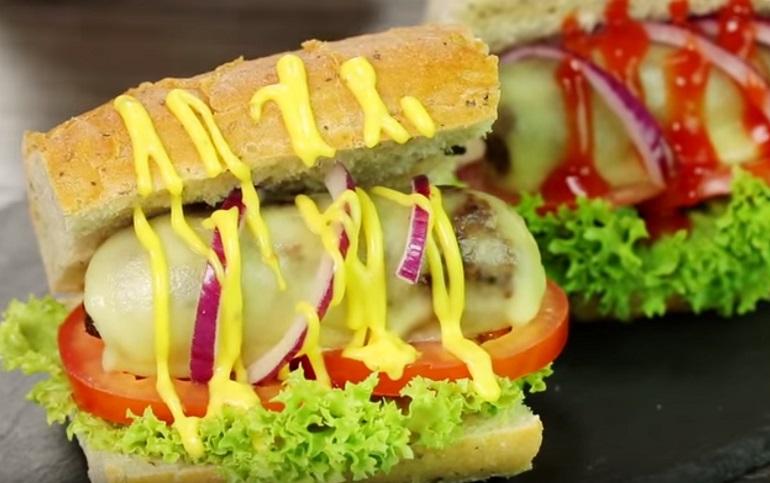 Хрустящий багет с сочной и ароматной начинкой:  сэндвичи по-новому