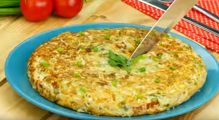 Японская капустная пицца: для тех, кто следит за фигурой
