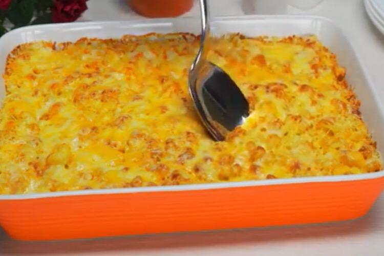 Потрясающая запеканка из макарон с сыром