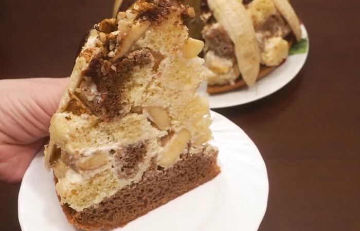 Готовим в мультиварке: шикарный банановый тортик