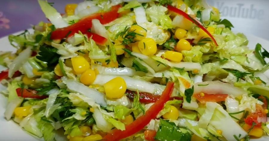 Постный салат быстрого приготовления