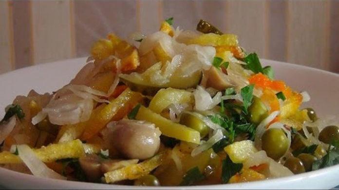 Вкусный постный салат: любимое блюдо не только в пост