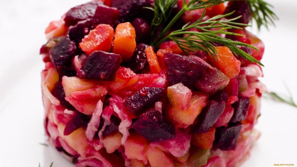 Классический овощной винегрет (готовим в пост)