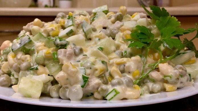 Изумительный весенний салат: с овощами и мясом