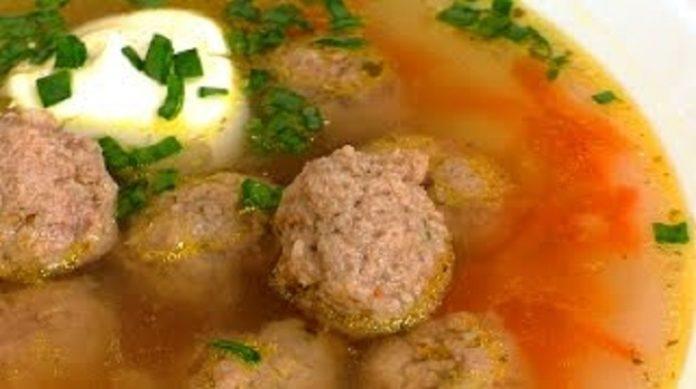 Очень вкусный суп с фрикадельками