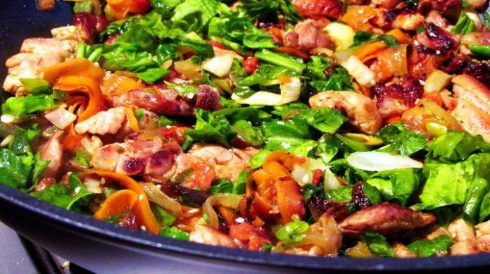 Великолепное мясо с овощами за полчаса