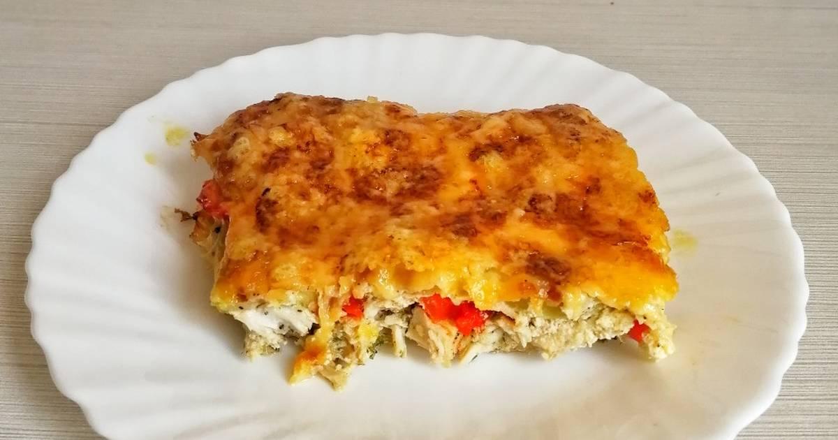 Прекрасное блюдо к ужину - куриная запеканка с овощами