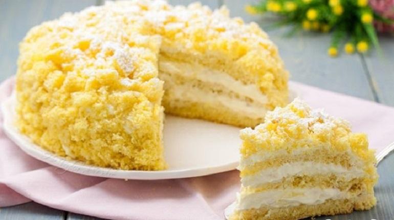 Праздничный торт «Мимоза»: десертов много не бывает