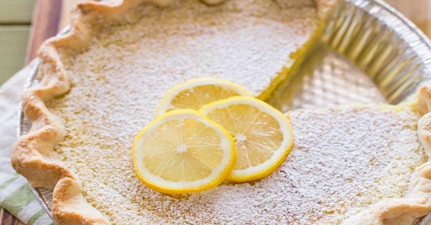 Бесподобный лимонный пирог из слоеного теста