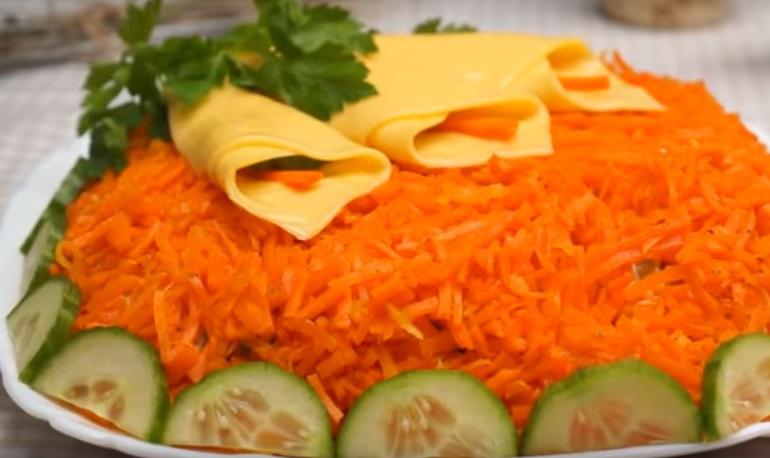 Весенний салат с корейской морковью: праздник каждый день