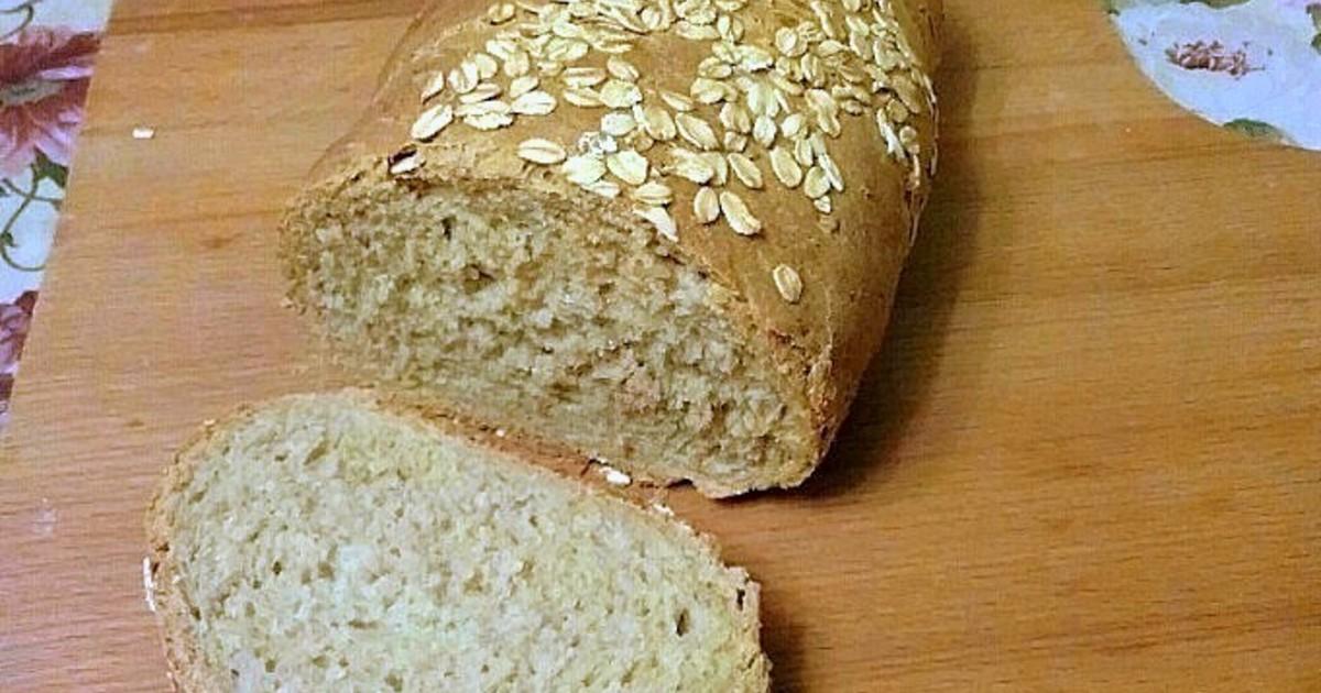 Хлеб с овсяными хлопьями-нежный, воздушный, ароматный