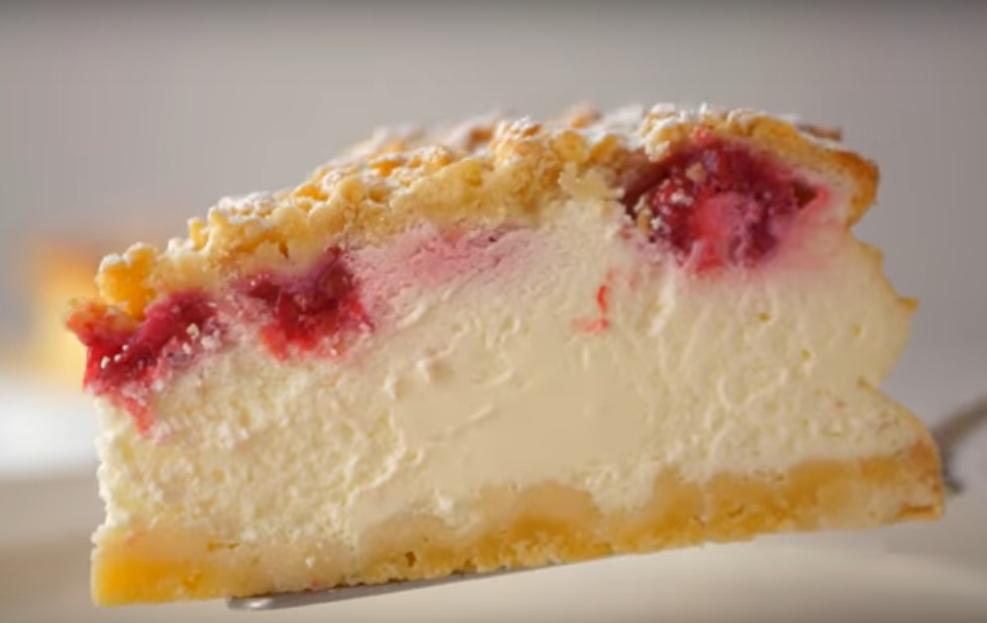 Сметанный пирог с песочным тестом-нежнее чизкейка