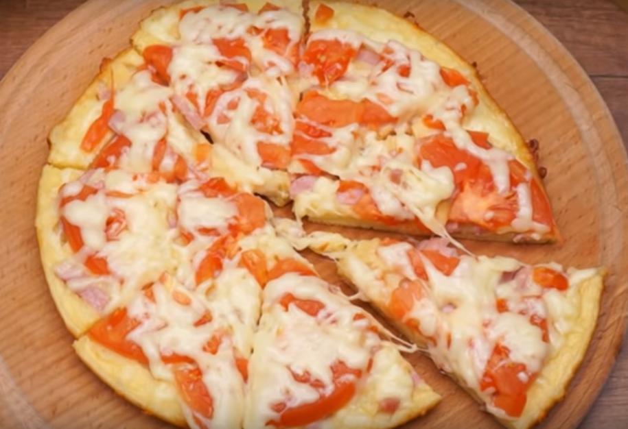 Пицца на сковороде - быстрый рецепт за 10 минут