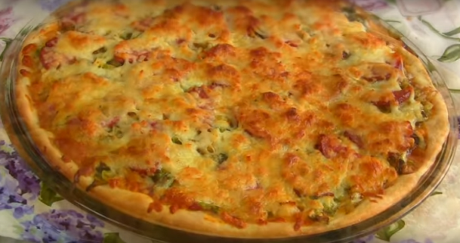 Невероятно аппетитная пицца с молодой капустой