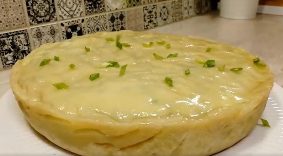 Ленивый картофельный пирог - вкусное блюдо к обеду