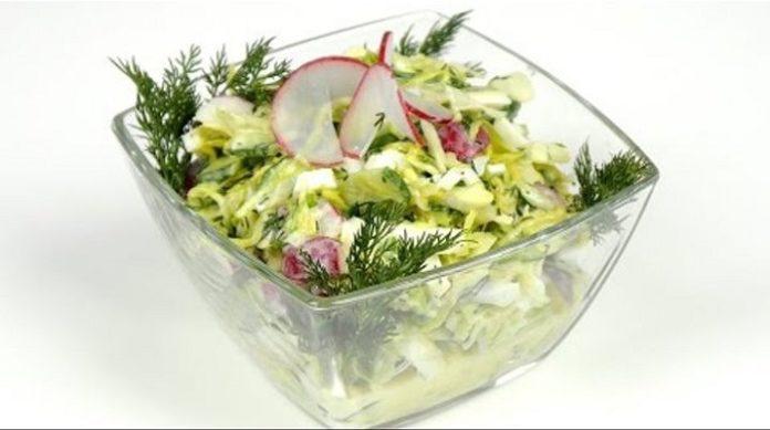 Весенний салат без майонеза: возвращает стройность