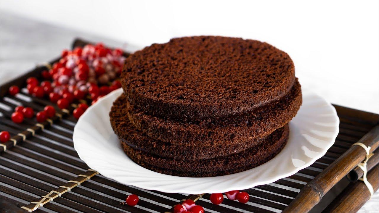 Восхитительный шоколадный бисквит на кипятке