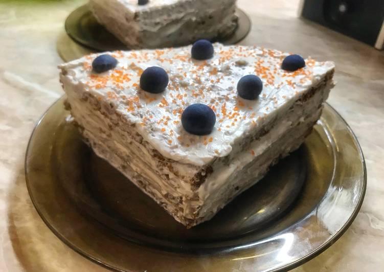 Овсяно-творожное диетическое пирожное