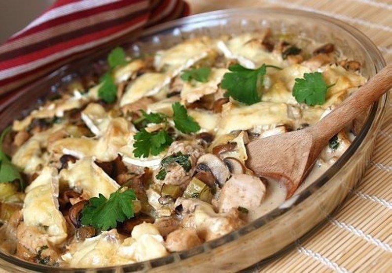Куриная грудка с грибами, запеченная в йогурте: очень вкусно