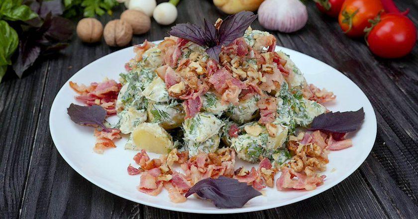 Картофельный салат с беконом: изумительный вкус