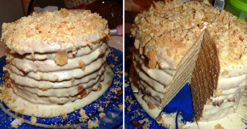 """Всеми любимый торт """"Пизанская башня"""""""