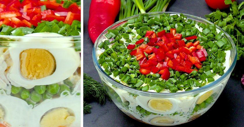 Салат «Праздничный»: красивый и очень вкусный