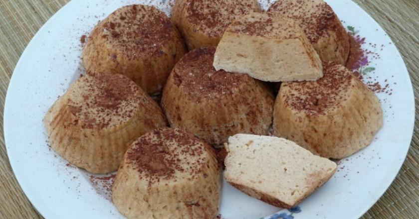Отменное творожное суфле с печеньем