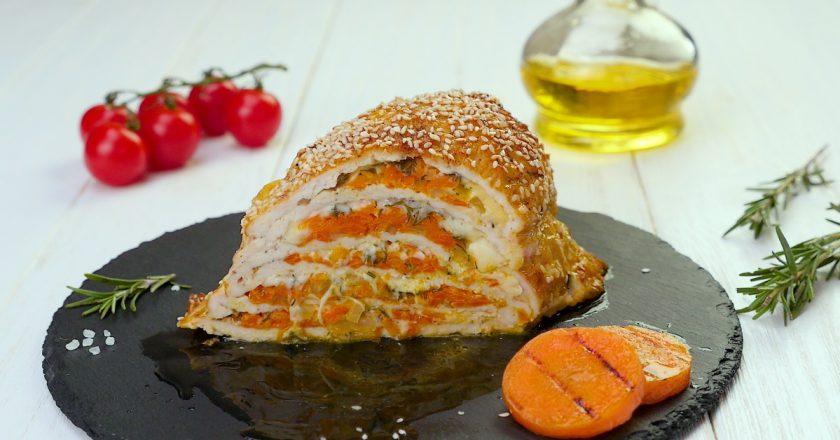 Мега вкусная куриная грудка с сыром в духовке