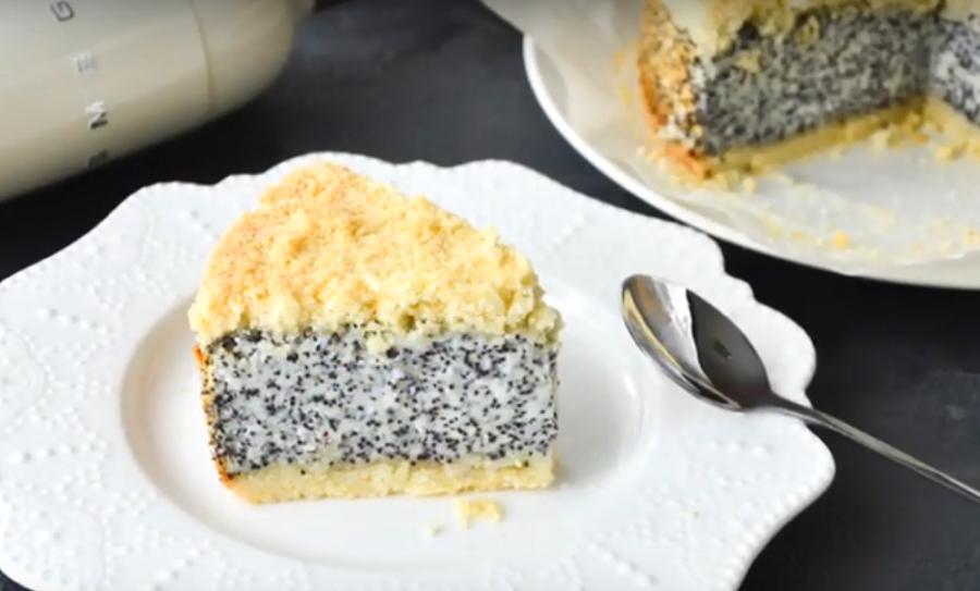 Бесподобно вкусный немецкий маковый пирог с творогом