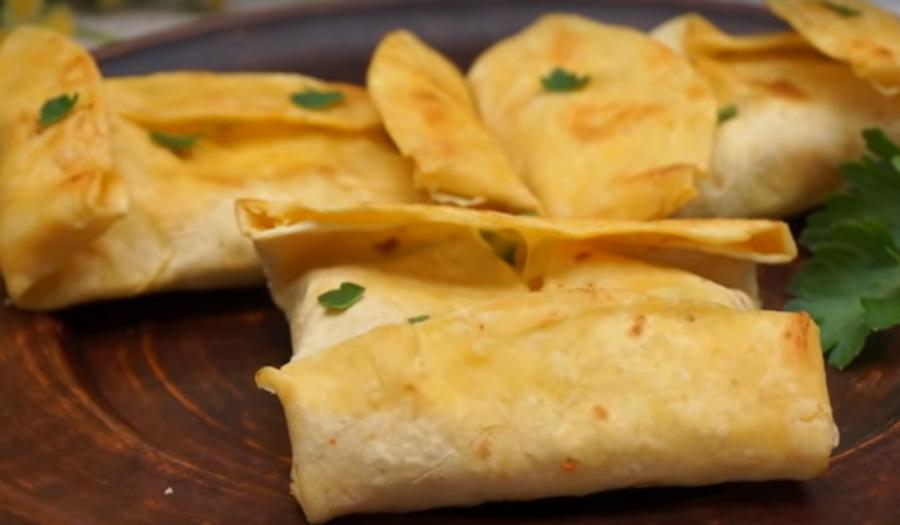 Тортилья с начинкой-супер закуска на каждый день