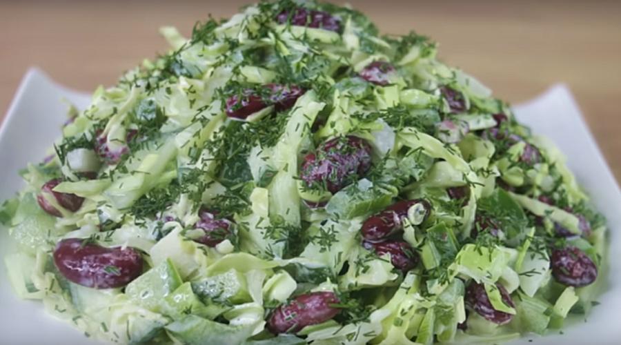 Быстрый овощной салатик: готовится на раз, два, три