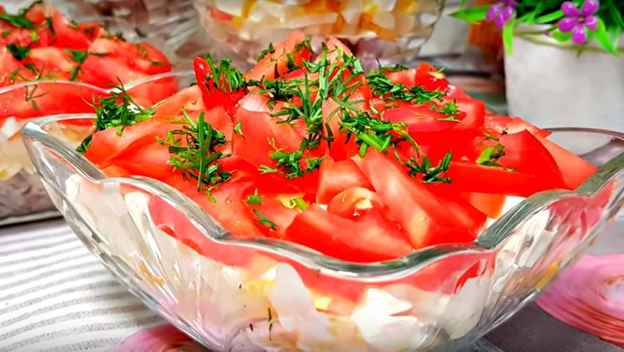 Очень вкусный и оригинальный салат к праздничному столу