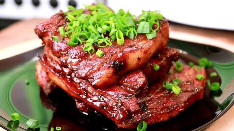 Свиные ребрышки, запеченные в духовке: еще один рецепт