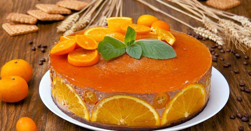 Апельсиновый чизкейк без выпечки: освежит в жаркий день