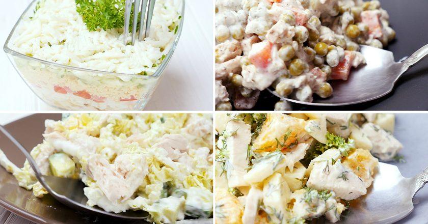 Легкие салаты с курицей: на каждый день и на праздник