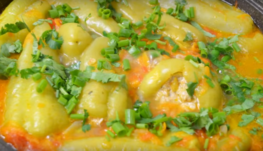 Фаршированный перец - новый рецепт