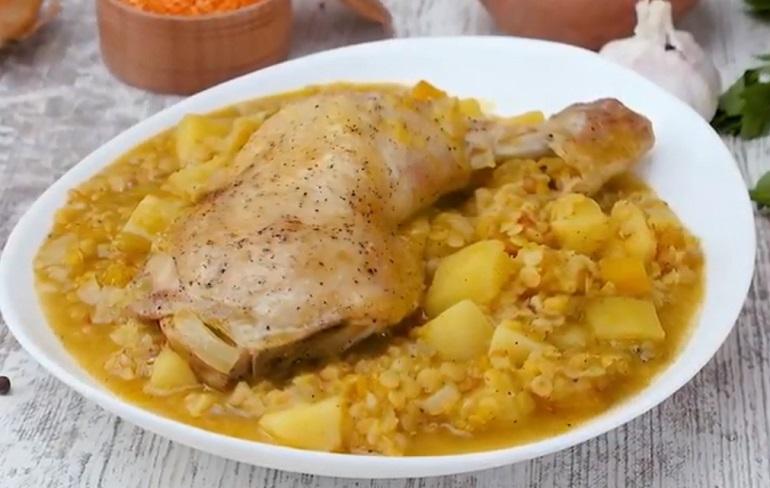 Чечевичный дал с курицей: основа для многих блюд