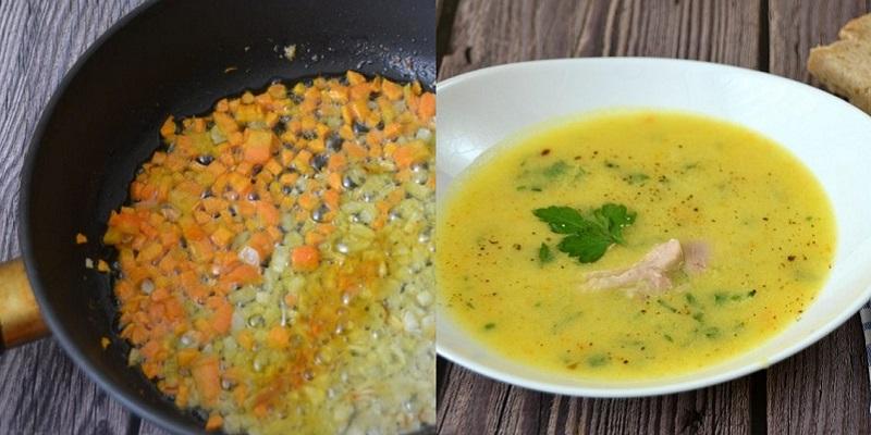 """Очень вкусный """"Дачный"""" суп из молодых овощей"""