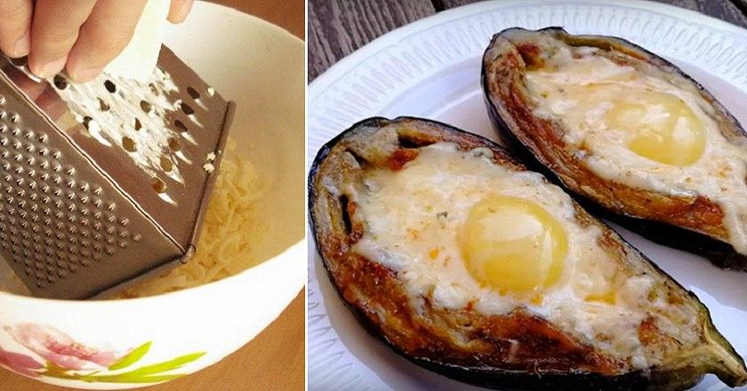 Отменные баклажаны с яйцом