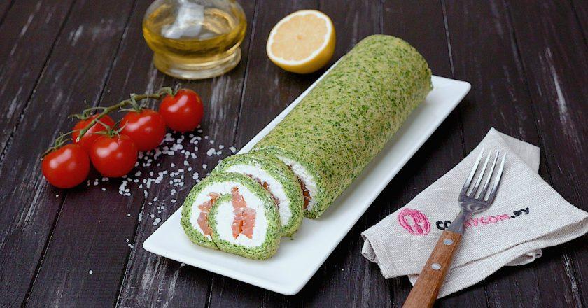 Закусочный рулет со шпинатом: вкусное диетическое блюдо
