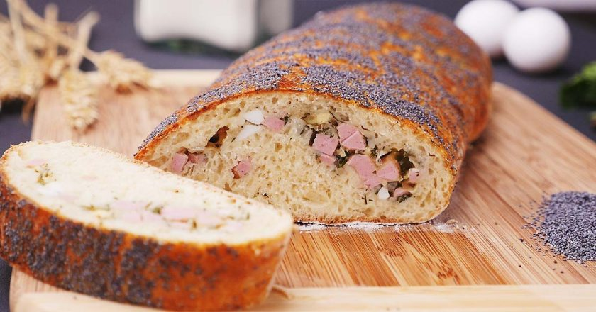 Вкусный хлеб с начинкой: вместо бутербродов