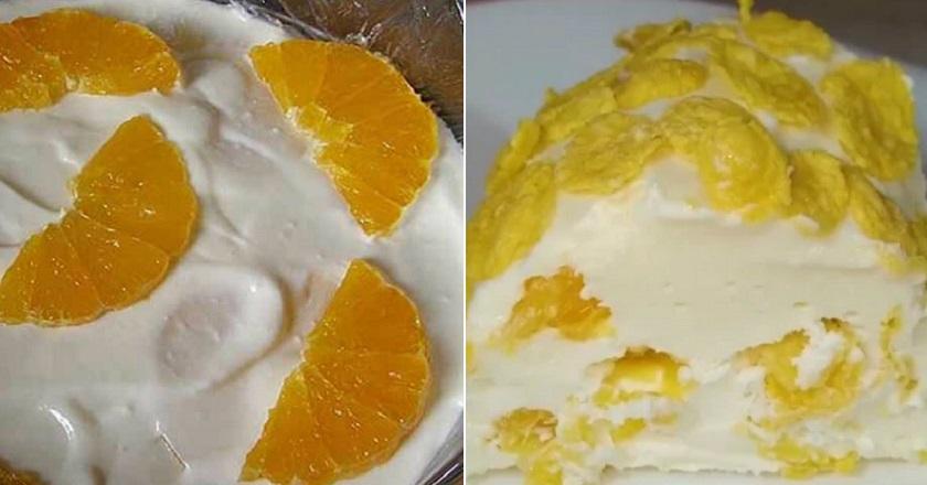 Очень вкусный творожно-сметанный торт