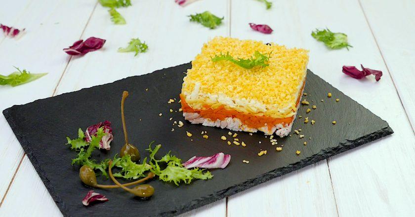 Слоеный салат «Бунито»: сделает ужин праздничным