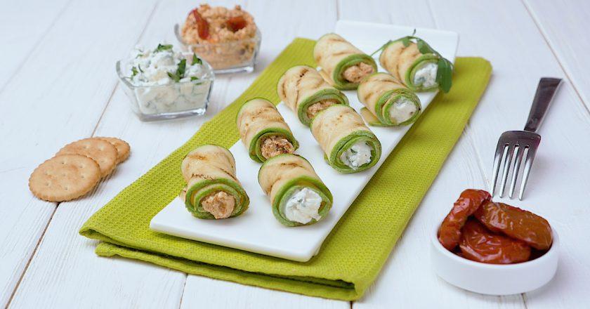 Рулетики из кабачков: к семейному ужину и праздничному столу
