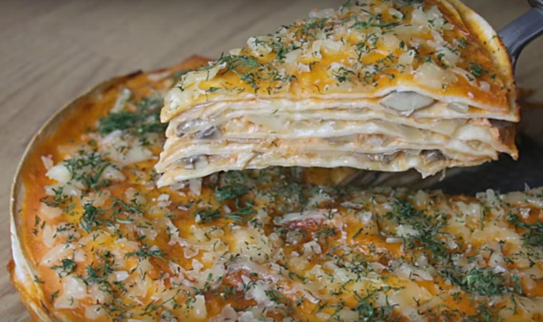 Невероятно вкусный пирог из лаваша