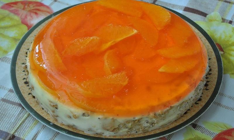 """Обалденный торт без выпечки """"Апельсинка"""""""