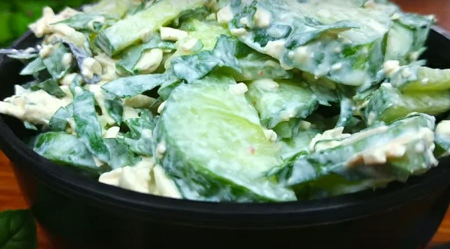 Мега вкусный салат из огурцов