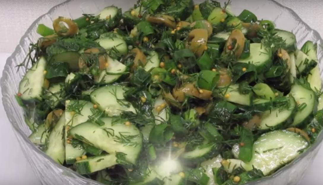 Обалденный салат из огурцов (готовим по-новому)