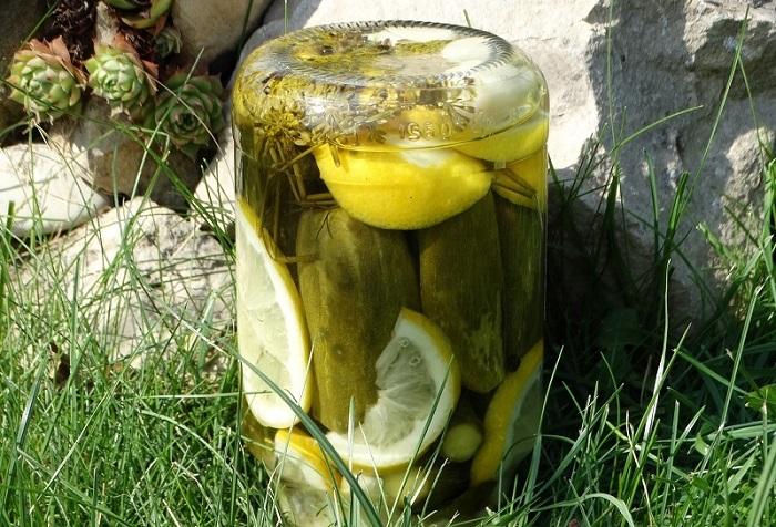 Маринованные огурцы с лимоном: и уксус не нужен