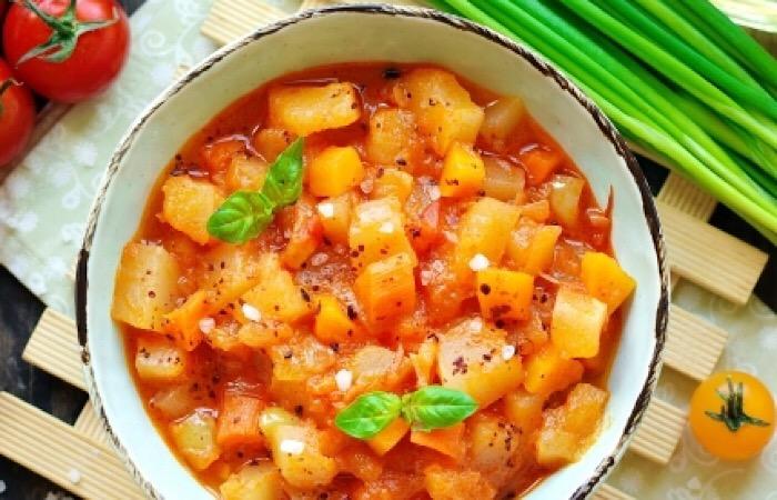 Вкуснейшее овощное рагу из патиссонов